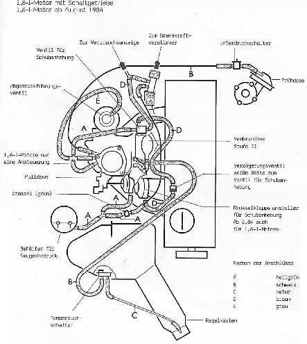 vw golf carburetor vacuum hose diagram